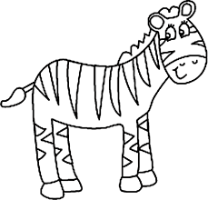 Fashionable Ideas Cute Zebra Coloring Pages Cartoon Sheet Baby