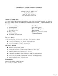 Sample Of Resume For Cashier Picture Samples Free Position Tim Hortons