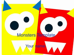 Monsters Template Powerpoint 1