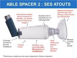 ventoline chambre d inhalation able spacer 2 avec masque nourrisson mediflux
