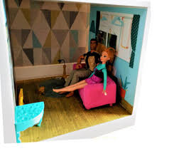 Barbie Living Room Furniture Diy by Dolls House Living Room Background Kids Room Furniture Sticker