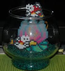 perler fish tank by evilpika perler mario
