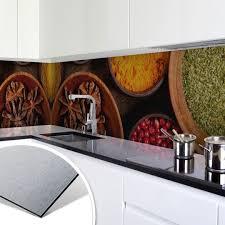 küchenrückwand alu dibond silber gewürze wall de