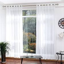 Sheer Curtain Panels With Grommets by White Sheer Curtain Panels 96 Grommet Drapery Voile Curtains