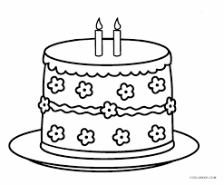 Printable Birthday Cake Coloring Page