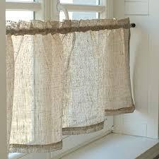 varvara home leinen scheibengardine 2 in 1 bistrogardine aus leinen küchegardine kurze gardine für küche natur 145 b x 45 h cm