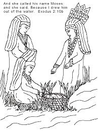 Baby Moses Coloring Page Home