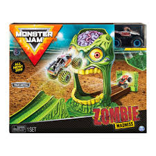 100 Monster Truck Track Set Jam Official Zombie Madness Playset Featuring Exclusive Die