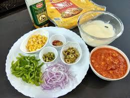 Veg Pizza Recipe Ingredients