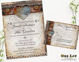 Barn Wedding Invitation Set Rustic Country