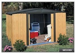 arrow galvanized steel storage shed 10x8 arrow woodlake shed wl108
