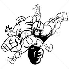 Football Player Tackle Clipart