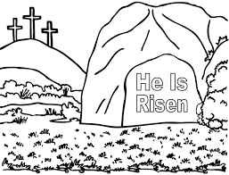 He Is Risen Coloring Page