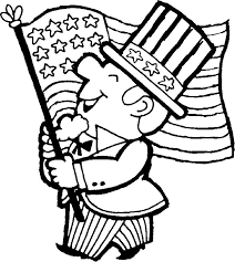 4th Of July USA Coloring Pages Uncle Sam
