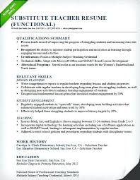 Pre K Teacher Resume From Substitute Example Samples Writing