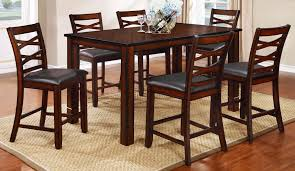 Furniture Mecca - PUB TABLE & CHAIRS, TWO TONE