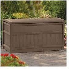 Suncast 195 Gallon Deck Box Manual by Resin Wicker Storage Buffet Brown Suncast Wicker Resins And