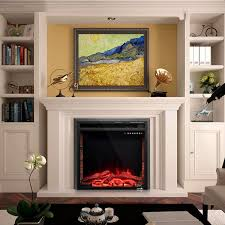Costway 26 750W1500W Fireplace Electric Embedded Insert Heater Glass Log Flame Remote