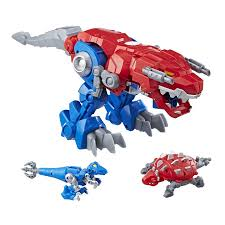 100 Rescue Bots Fire Truck Transformers Optimus Primal TRex And Wolf Toy Figures