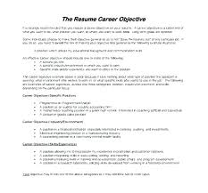 Resume Samples For Teachers Changing Careers With Career Objective Examples Change