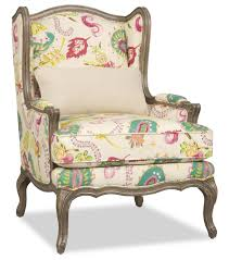 Sprintz different fabric Kelsea Wing Chair by Sam Moore