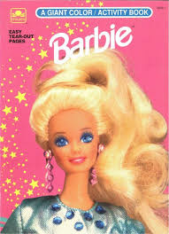 Vintage 1992 Barbie Coloring Book By Golden