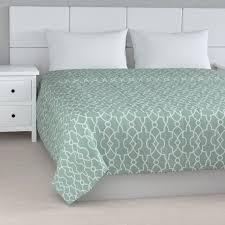 einfacher überwurf grün weiß 170 210 cm gardenia