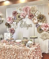 Sweet 16 Wall Decorations Inspirational Rose Gold Paper Flower Backdrop Delectable High Definition