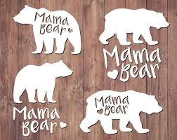 Mama Bear Clipart Svg Grizzly Woodland Bears Vector Silhouette