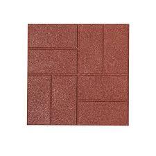 shop rubberific paver common 16 in x 16 in actual 16 in x
