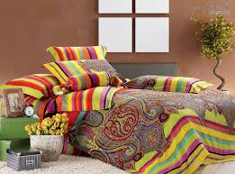 Luxury Egyptian Cotton satin Paisley Bedding set Bohemia King