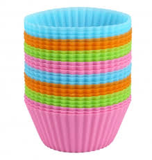 Bakerpan Silicone Cupcake Holders Standard Size 4 Colors Set Of 24