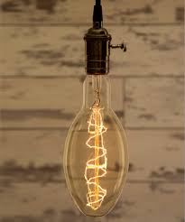 Oval Xtra Smoked glass Vintage Lighting Industrial