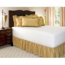 Donna Sharp Chocolate Gingham Bed Skirt bedspreads