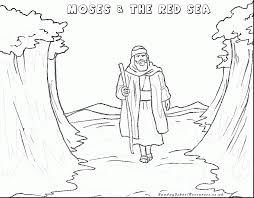 Beautiful Bible Moses Red Sea Coloring Pages With Story And