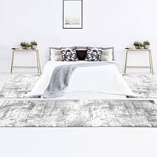 bettumrandung creme grau abstrakt meliert 3 teiliges läuferset schlafzimmer teppiche flachflor