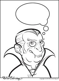 Halloween Vampire Character Coloring Page