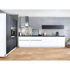 küche lacklaminat weiß schwarz matt 180 360 cm