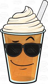 Cool Clipart Cold Coffee Frappe Emoji Cartoon Vector Clip Art Black And White