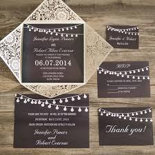 Chalkboard String Lights Laser Cut Wedding Invites