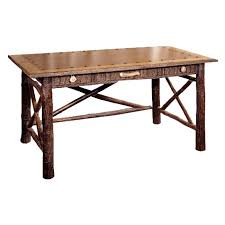 Old Hickory Big Ranch Foremans Desk W Faux Leather Top