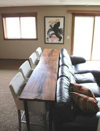 Use A Console Table Up Against The Back Of Couch As