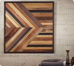 Pottery Barn Metal Wall Decor by Geometric Stained Wood Wall Décor