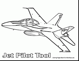 Terrific Jet Plane Coloring Pages With Planes And Printable