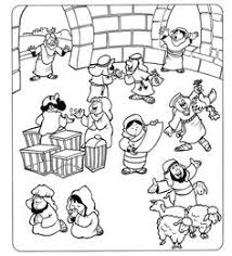 Cleansing The Temple Coloring Page