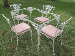 Vintage Homecrest Patio Furniture by Table And Chairs Meadow Rose Pinterest Wrought Iron Iron