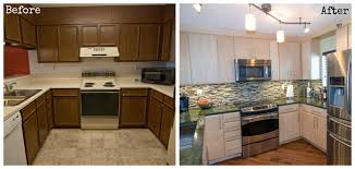 Kitchen Remodeling Idea With Mosaic Glass Tile Backsplash And Track Lighting Also Marble Countertop