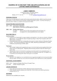 Student Job Resume Format