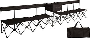 Trademark Innovations Half Back Portable 8-Seater Team ... Trademark Innovations 135 Ft Black Portable 8seater Folding Team Sports Sideline Bench Attached Cooler Chair With Side Table And Accessory Bag The Best Camping Chairs Travel Leisure 4seater Get 50 Off On Sport Brella Recliner Only At Top 10 Beach In 2019 Reviews Buyers Details About Mmark Directors Padded Steel Frame Red Lweight Versalite Ultralight Compact For Wellington Event