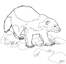 Click The Wolverine Animal Coloring Pages To View Printable